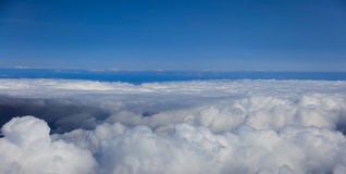 Blue sky with clouds, aerial photography Stock Images