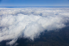 Blue sky with clouds, aerial photography. Blue sky and clouds, aerial photography Stock Image