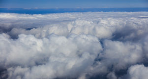 Blue sky with clouds, aerial photography. Blue sky and clouds, aerial photography Stock Photos