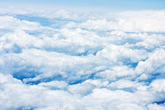 Blue sky with clouds aerial view Royalty Free Stock Photography