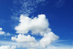 Blue sky with clouds Royalty Free Stock Photography
