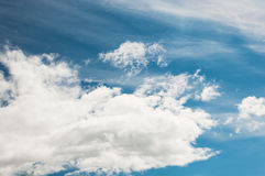 Blue sky with clouds. Atmosphere, environment Royalty Free Stock Photography