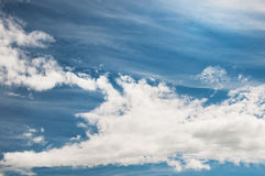 Blue sky with clouds. Atmosphere, environment Royalty Free Stock Image