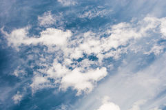 Blue sky with clouds. Atmosphere, environment Stock Photo