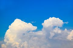 Blue sky with clouds background 171021 0057 Royalty Free Stock Photography