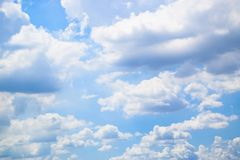 Blue sky and clouds background 180927 0011 stock image