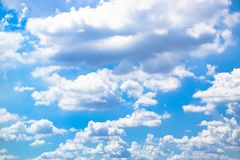 Blue sky with clouds background 180927 0012 stock image