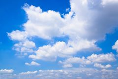 Blue sky and Clouds Background 1 stock photography