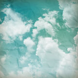 The blue sky with clouds, background Stock Images