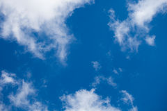 Blue sky clouds background Royalty Free Stock Photo