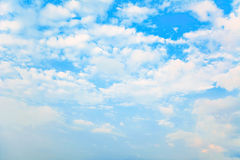Blue sky clouds. Stock Photos