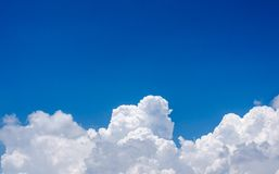In the blue Sky and clouds background Stock Photos