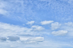 The blue sky with clouds Stock Photos