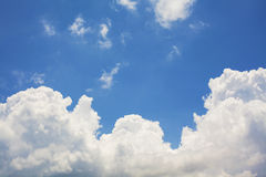 Blue sky and clouds with. Background Stock Image