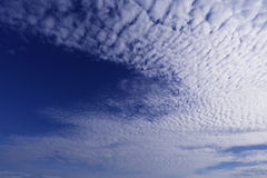Blue sky and clouds. For background royalty free stock photography
