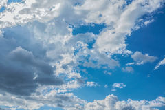 Blue sky with clouds. Blue sky background with clouds Royalty Free Stock Images