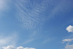 Blue sky with clouds background Stock Photos