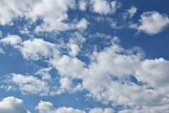 Blue sky with clouds background Royalty Free Stock Photography