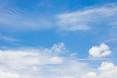 Blue sky. Blue sky with clouds background Stock Photography