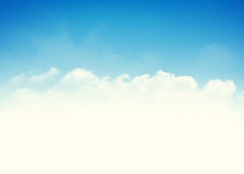 Blue sky and clouds background Stock Photos