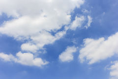Blue sky with clouds background. Beautiful weather Stock Photo