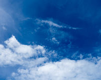 Blue sky  clouds Royalty Free Stock Photography