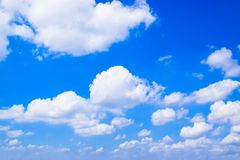 Blue sky with clouds background 171022 0060 Royalty Free Stock Images