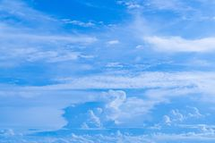 Blue sky and clouds background. stock images