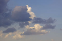 Blue sky with clouds background. Blue sky with cloud closeup Royalty Free Stock Image