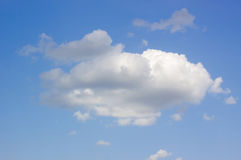 Blue sky with clouds background. Blue sky with cloud closeup Royalty Free Stock Photos