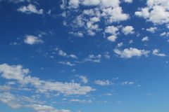 Blue sky clouds background cloudscape summer Royalty Free Stock Images