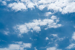 Blue sky with clouds background Royalty Free Stock Image