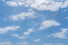Blue sky with clouds background Royalty Free Stock Photo