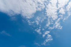Blue sky with clouds background. Good weather ,afternoon day blue sky with cloud background Stock Photography