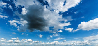 Blue sky with clouds background Royalty Free Stock Images
