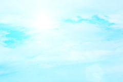 Blue sky with clouds background lines intersect. Stock Photo