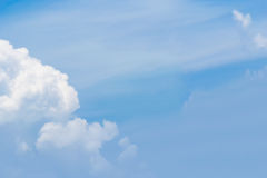 Blue sky with clouds background lines intersect. Royalty Free Stock Image
