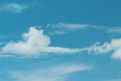 Blue sky with clouds background lines intersect. Stock Image