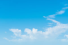 Blue sky with clouds background lines intersect. Royalty Free Stock Photography