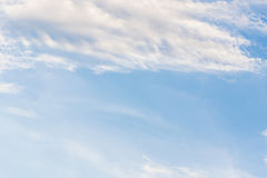 Blue sky with clouds background lines intersect. Royalty Free Stock Images