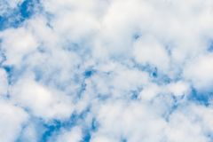 Blue sky with clouds, background, place for your advertising insertion. from the bottom up Royalty Free Stock Photography