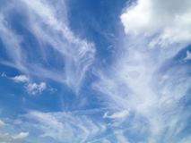 Blue sky clouds background Royalty Free Stock Photos
