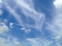 Blue sky with clouds background Stock Image