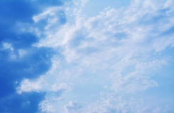 Blue sky clouds. Stock Images