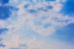 Blue sky clouds. Royalty Free Stock Photos