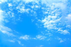Blue sky clouds. Royalty Free Stock Images