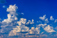 Blue sky with clouds. Blue sky background with white clouds Royalty Free Stock Photos