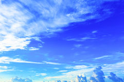 Blue sky with clouds, backgrounds Royalty Free Stock Image