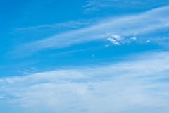 Blue sky with clouds. For backgrounds or textures Royalty Free Stock Images