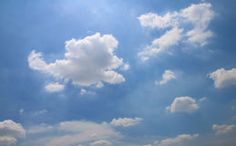 Blue sky with clouds. Stock Images